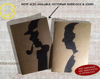Handmade notebooks w/ silhouettes from your favourite TV show