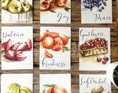 ENTIRE SET | Fruit of the Spirit Series | all nine 5 x 7 watercolour prints