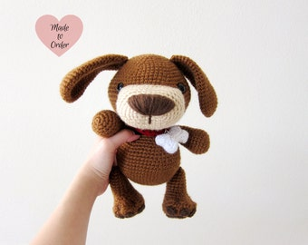 MADE TO ORDER: Amigurumi Puppy Crochet Stuffed Toy