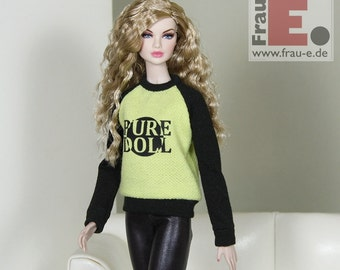 "Fashion Doll Sweater ""Pure Doll"" - lime"