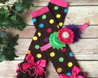 Circus Birthday Cake Smash, Baby Ruffle Socks, Polka Dots Baby Leg Warmers Girl, Baby Leggings and Headband, Cake Smash Photo, Legwarmers