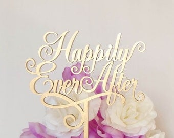 "Wedding Cake Topper ""Happily Ever After"" Heirloom Quality, ENJOUÉ COLLECTION - CT502"