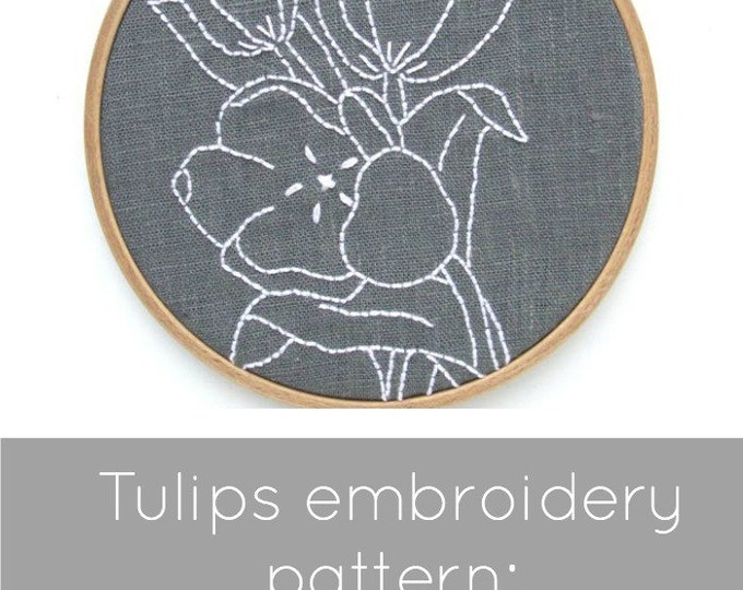 Tulips Embroidery Pattern - Digital Download