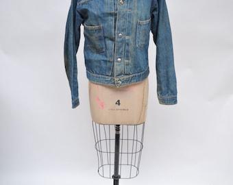 vintage denim jean jacket 1950s montgomery ward 101