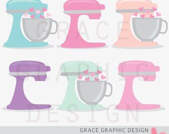 Baking Clipart, mixers clipart commercial use, vector graphics, digital clip art, digital images