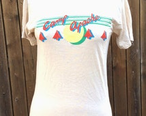 NOS Vintage Retro Estate Camp Apache T-Shirt Collegiate Pacific Tee Size M