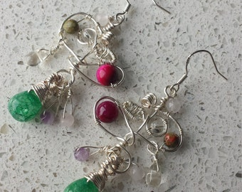 Jewel in the Vine Gemstone Bespoke Earrings