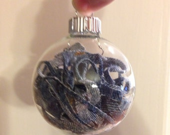 Upcycled Denim Ornament