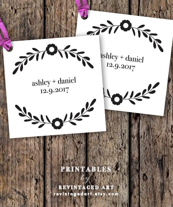 Free Printable Wedding Gift Tags: Printable Wedding Favor Tag Template // Editable By
