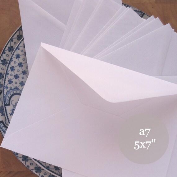 25 5x7 Wedding Envelopes A7 Envelopes White By