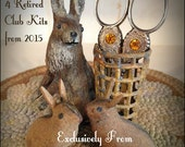 FOUR RETIRED Humble Hare Handwork Club Kits from 2015 ~ Exclusively from Scattered Seed Samplers© 2015 by Designer Tammy Black
