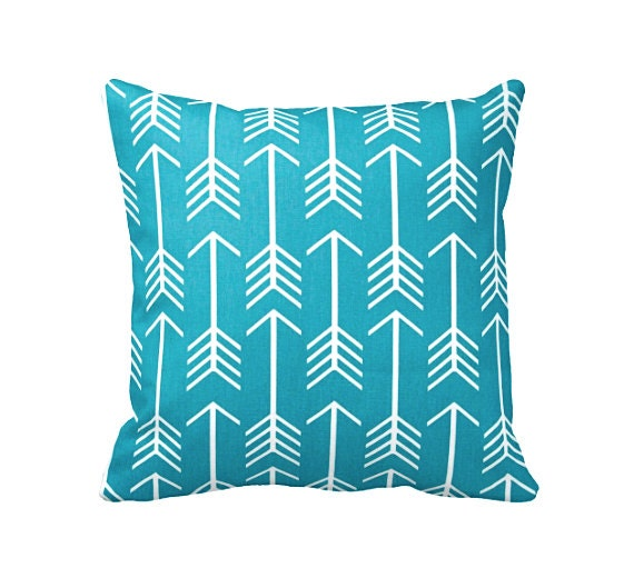 Standard Throw Pillow Cover Sizes : 6 Sizes Available: Teal Decorative Throw Pillow Cover Teal