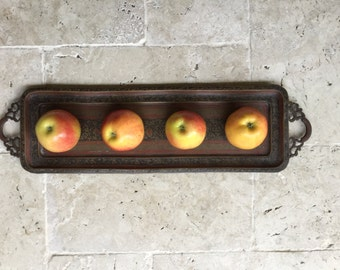 Long serving tray etsy for Long rectangular candle tray