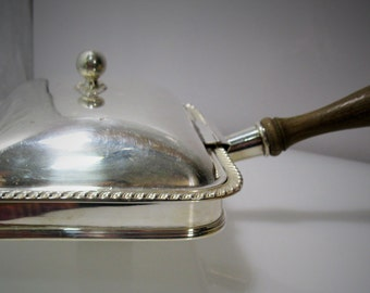 Silver Plated Bed Warmer Silent Butler Made in England Vintage