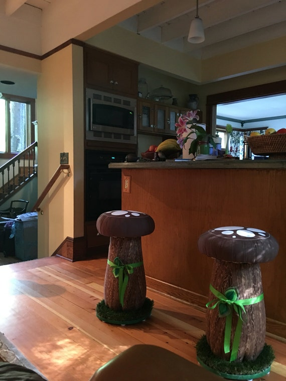 Adult Height Bar Stool, Breakfast Nook Stools, Mushroom Stools, Toadstools, Mushroom Seats, Bar stools