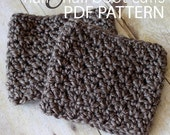 Crochet Pattern ~The Half & Half Boot Cuff Warmer PDF PATTERN