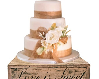 Blush Wedding Country Rustic Solid Wood Cake Cupcake Stand Beach Candy Bar