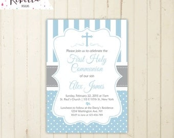 boy first communion invitation first communion invite holy communion invitation boy comunion invitation baptism invitation printable 106