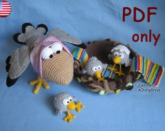 Happy Family, amigurumi crochet pattern