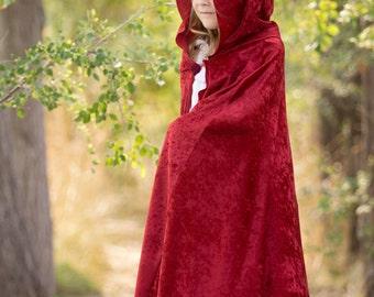 Dark Red Beauty Cape / Maroon Beauty Princess Cloak / Halloween Costume Cape / Cosplay Cape / Medieval Cloak / Biker Red Cloak