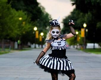 Jack Skellington Costume,  Nightmare before Christmas, Jack  Dress for Girls, Nightmare Jack  Halloween Costume, Nightmare Sally Dress