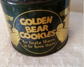 Golden Bear cookie tin... 1930's