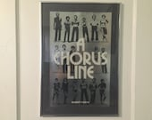 """A Chorus Line First Edition 1977 Silver Foil Broadway Poster, Framed 18""""x26"""""""