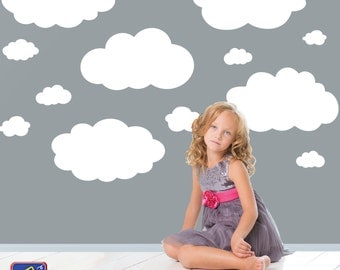 Cloud wall decals - Wall decal clouds - Cloud decals - Nursery wall decal - Clouds vinyl decals - Large Clouds - Bedroom Nursery decor