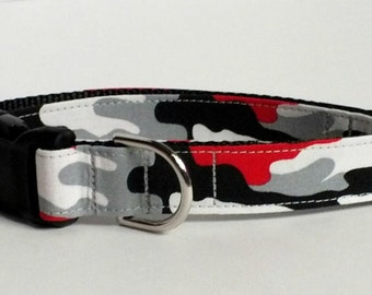Red Camo Dog Collar