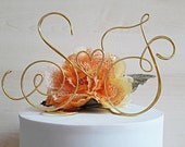 Custom Wedding cake topper, Initials cake topper, wire cake topper, wedding cake decoration, handmade topper