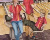 Game of Thrones - The Lannisters Bowling - Art Print