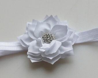 WHITE Lotus Flower Headband