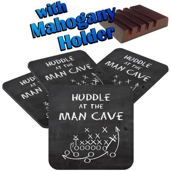 Man Cave Coasters : Items similar to man cave football chalkboard coaster set