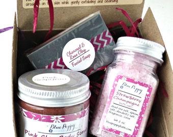 Mini Spa Gift Set, Bridesmaid Gift, Spa Kit, Bridal Party, Beauty Gift for Her, Bath Sample Pack, Mini Spa Box, Hostess Gift Box