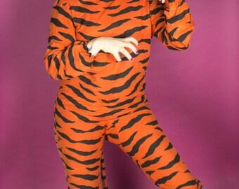 RARE Antique Halloween Costume / 1920s 20s Tiger Costume / Vintage Halloween Mask