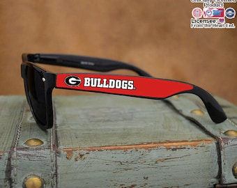 Georgia Bulldogs Black Wayfarer Sunglasses