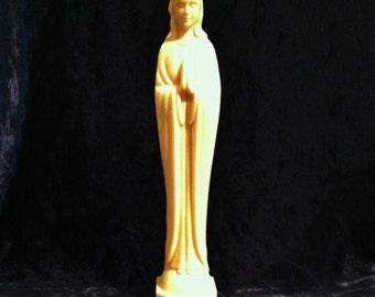Large Vintage Plastic Virgin Mary