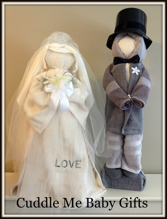 Wedding Shower Gifts For Bride And Groom : Bridal Shower Bride and Groom Centerpiece Bridal Shower Gift all made ...