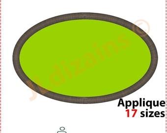 Oval Applique Design. Oval embroidery design. Embroidery oval shape. Embroidery applique oval shape. Oval shape. Machine embroidery design