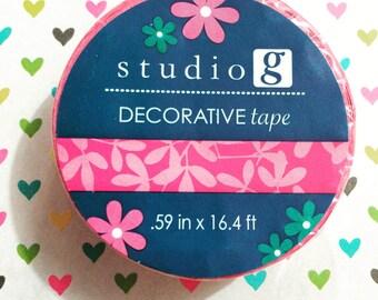 Pink Leafs Washi Tape