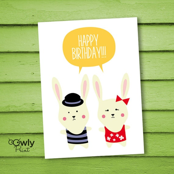 Printable Happy Birthday Card. Ready To Print Happy By