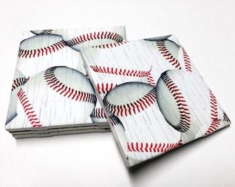 Baseball Coasters Baseball Decor Baseball Home Decor Drink Coasters Tile Coasters