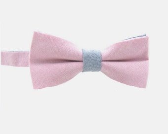 Bow Tie.Mens Bow Tie.Pink Bow Tie .Cotton Bow Tie.Gift for Him.