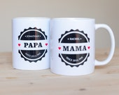 Mothers Day Mug - Best Mom, Ima, Bilingual Mug, Hebrew and English, Gift for Moms and Imas, Jewish gift - personalized mug -  by isralove