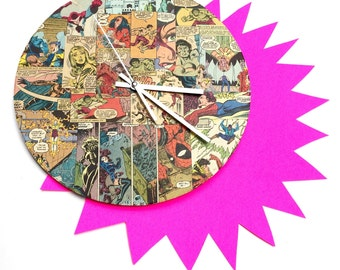 Comic Book Wall Clock