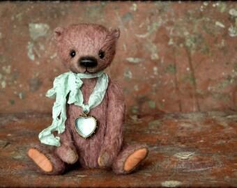 Artist Teddy Bear Helena 8 inches from NadyaBears.OOAK Girl Teddy Bear Vintage Teddy Bear Mohair Teddy Bear