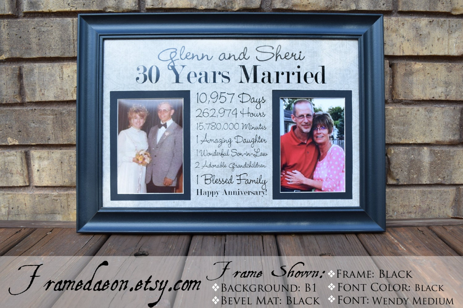 Wedding Day Gift For Wife: Wedding Anniversary Frame Anniversary Gift For Wife