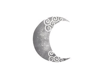 Crescent Moon Rubber Stamp | 012066