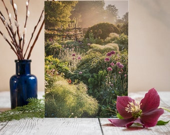 Garden Fine-Art Greeting Card - Garden Photography - Blank Flower Card - Great Dixter Card - Birthday Card - Anniversary Card - Allium Card