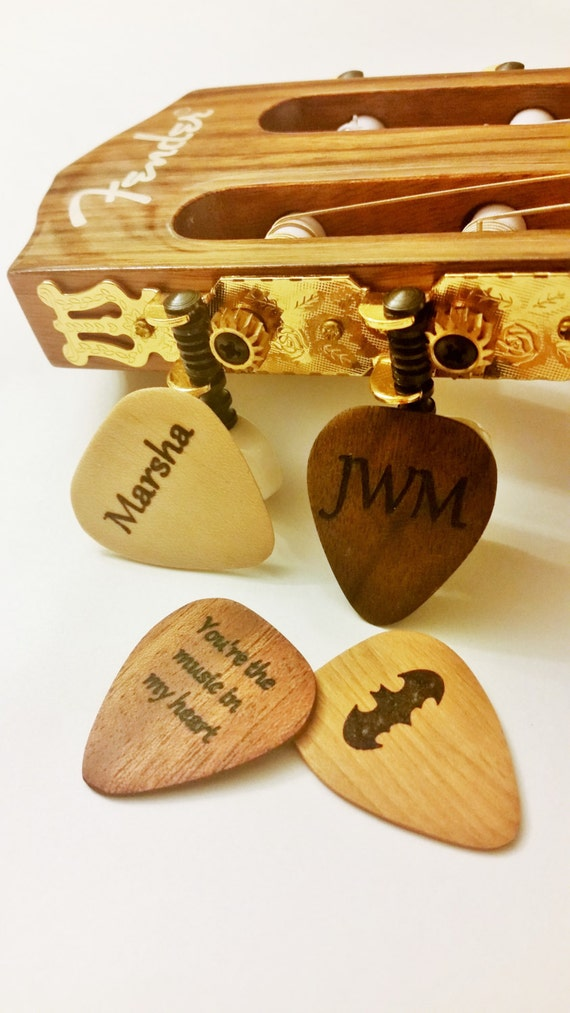 personalized guitar pick custom wood guitar pick wood by mjs4848. Black Bedroom Furniture Sets. Home Design Ideas